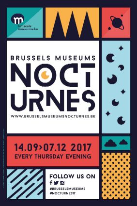 Poster of the Brussels Museums Nocturnes